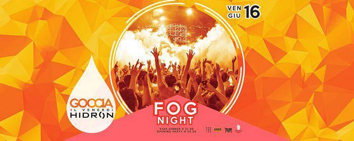 Fog night goccia piscina hidron eventi a firenze for Piscina hidron