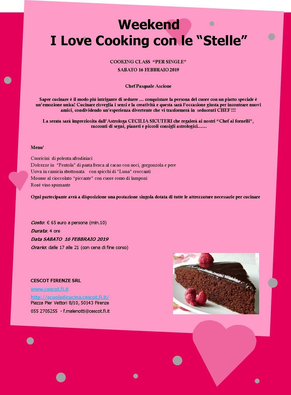 Cooking Class Per Single Cescot Eventi A Firenze