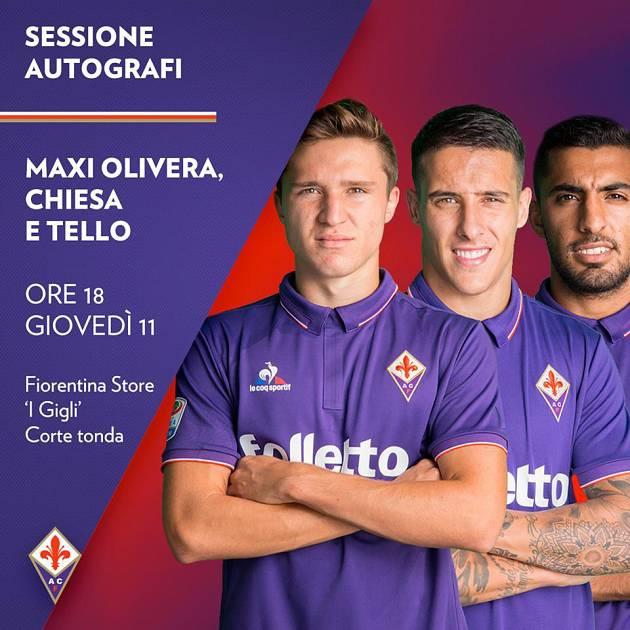 Firmautografi con i giocatori della Fiorentina Centro Commerciale ...
