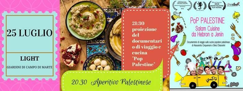 Aperitivo palestinese e proiezione documentario pop for Giardino orticoltura firenze aperitivo
